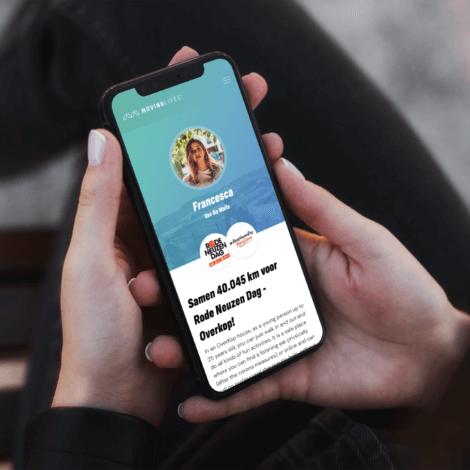 Profiel van een deelnemer van het digitale platform Moving Lives