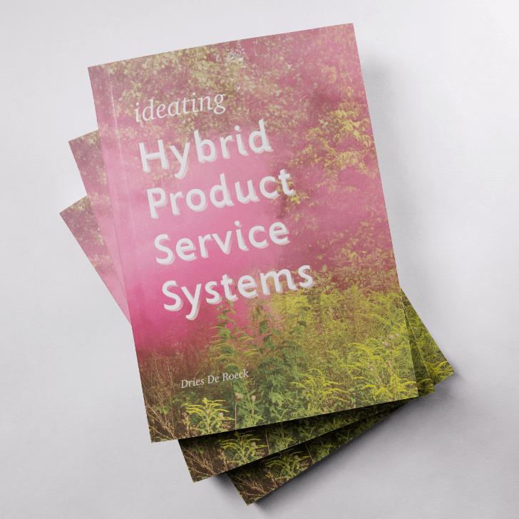 Enkele exemplaren van het uitgeschreven doctoraatsonderzoek van Dries over Hybrid Product Service Systems.