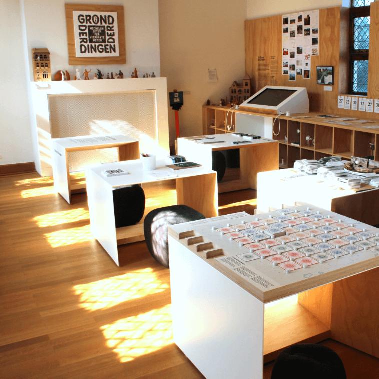 Ruimte in museum Hof van Busleyden dat is voorbehouden aan participatie. In het bijzonder het project 'Grond der Dingen'.