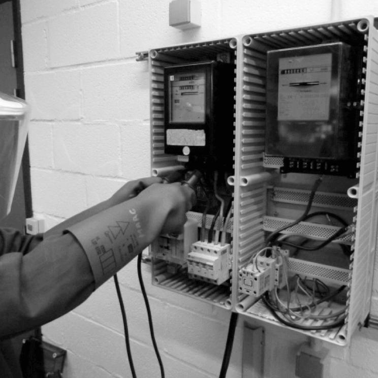 Traditionele meterkastinstallatie