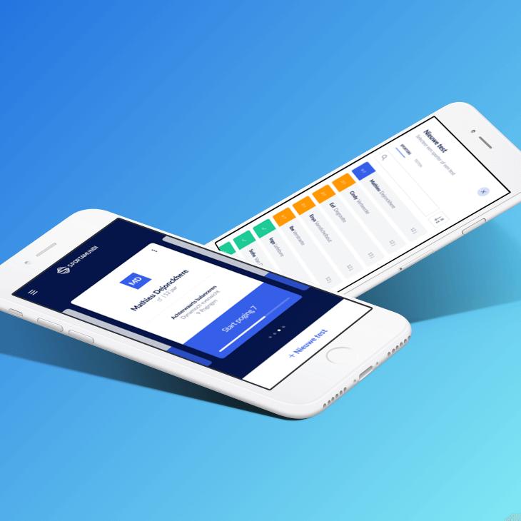 Voorbeeld van hoe de Sportamundi 'I Like' app eruit ziet.