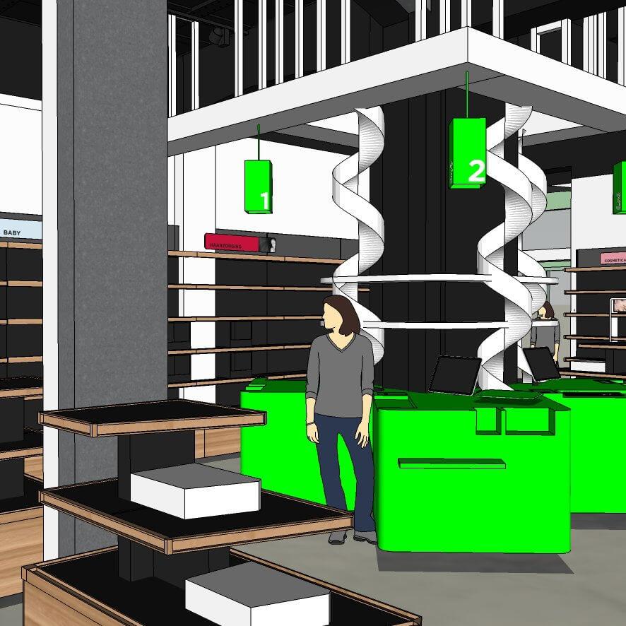 Pharmacy central station interior design